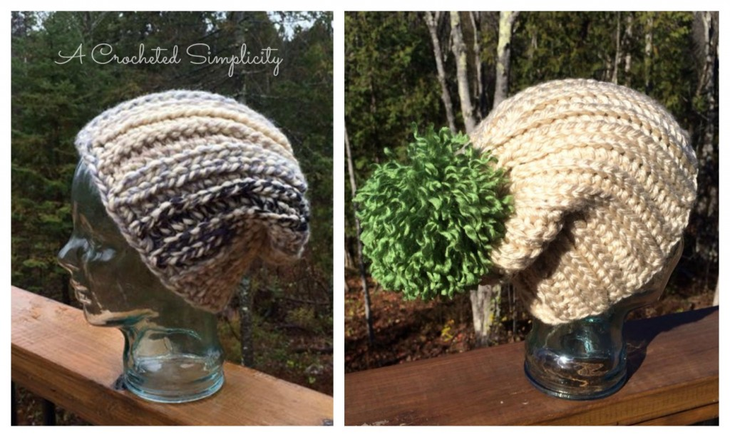 "Free Crochet Pattern: ""Knit-Look"" Bulky Slouch (4 Sizes) by A Crocheted Simplicity"