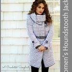 Crochet Pattern: Women's Houndstooth Jacket
