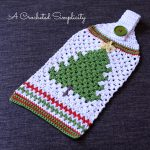 Free Crochet Pattern – Retro Christmas Tree Towel