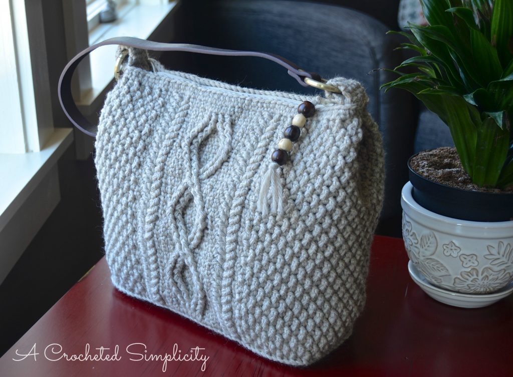 Crochet Pattern - Cateline Cabled Bag by A Crocheted Simplicity