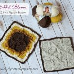 Free Crochet Pattern – Cabled Blooms 12 inch Afghan Square