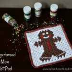 Free Crochet Pattern – Gingerbread Man Hot Pad