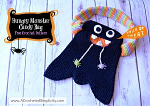 Free Crochet Pattern – Hungry Monster Candy Bag