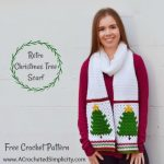 Free Crochet Pattern – Retro Christmas Tree Scarf